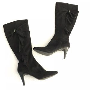 Impo Stretch Telly Tall Stiletto Heel Boots Suede